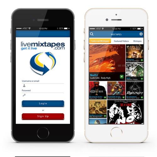 LiveMixtapes IOS App Design