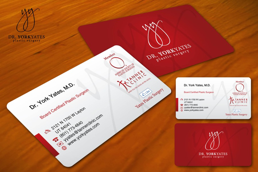 Dr york yates plastic surgery business card stationery contest york yates plastic surgery business card winning design by gledex reheart Choice Image