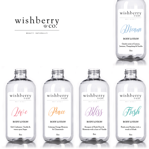 Wishberry & Co - Bath and Body Care Line Design by LulaDesign