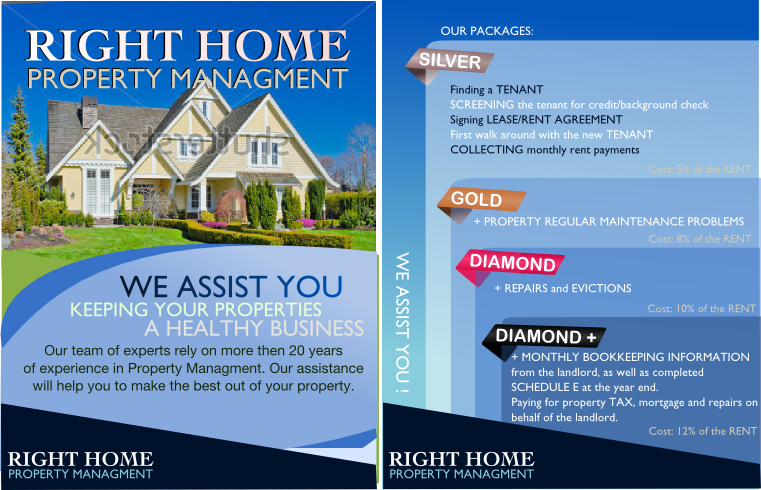 Property Management Marketing Postcards Arts Arts - Property management brochure templates