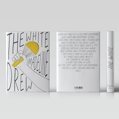 Design a minimal fiction cover that has a pop of colour and a sneak of humour! Diseño de xtraxtra