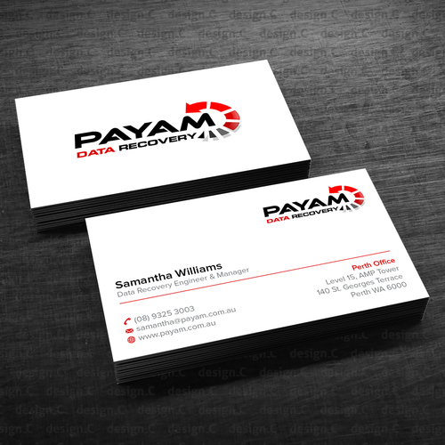New business cards for 15 of my staff new design wanted runner up design by designc reheart Choice Image