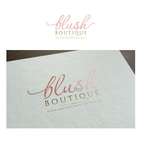 Elegantly Stylish Logo For Blush Boutique Logo Design Contest 99designs