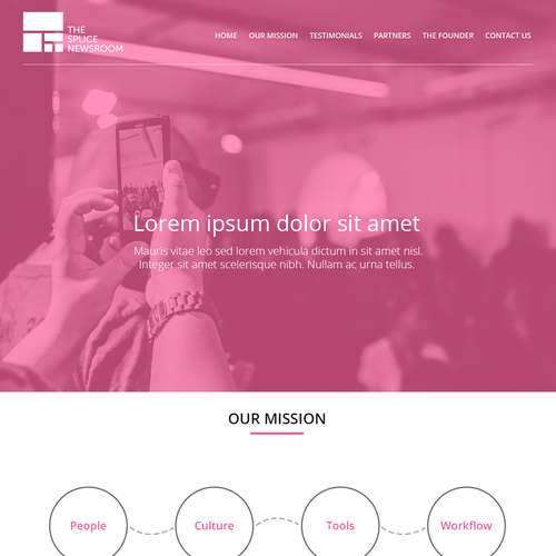 Create a great, eye-catching single-page website for a leading newsroom editorial consultancy. Design by Răzvan I.