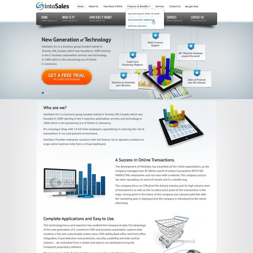Website Design For Intosales Inc Web Page Design Contest 99designs