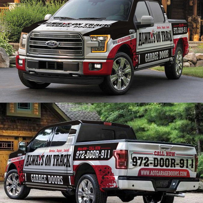 Informational and brand recongnizable design for wraps and for Garage reparation ford