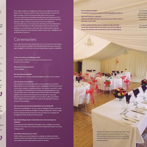 Wedding Brochure Ideas: DESIGN OF WEDDING VENUE BROCHURE FOR WWW.MOORHALLVENUE.CO