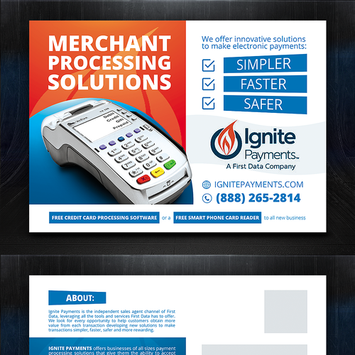 Post card for merchant services  | Postcard, flyer or print