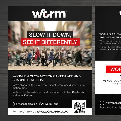 Flyer design for slow motion app | Postcard, flyer or print