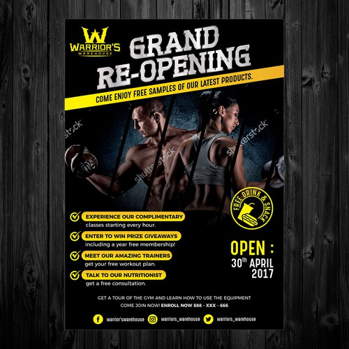 Grand Re-opening postcard | Postcard, flyer or print contest