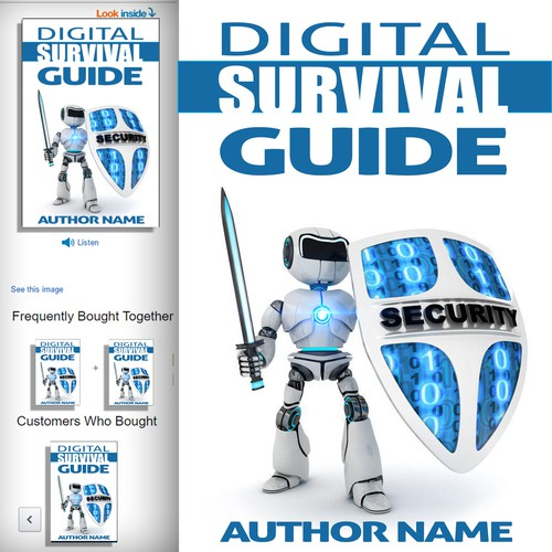 Guide Book Cover Design ~ Digital survival guide book cover buchcover wettbewerb