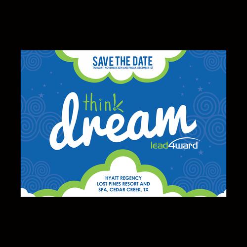 save the date postcard for educators conference postkarten flyer printdesign wettbewerb. Black Bedroom Furniture Sets. Home Design Ideas