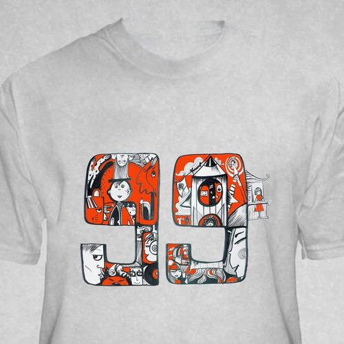 Create 99designs' Next Iconic Community T-shirt Design by Xeniatm