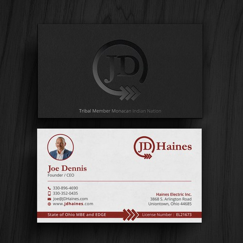American Indian Electrical Contractor S Business Card Business Card Contest 99designs