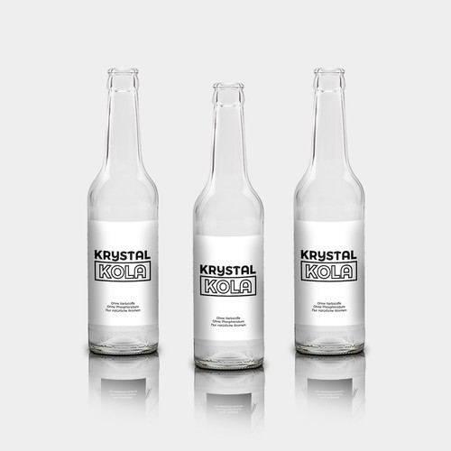 Label for a clear coke bottle | Product label contest