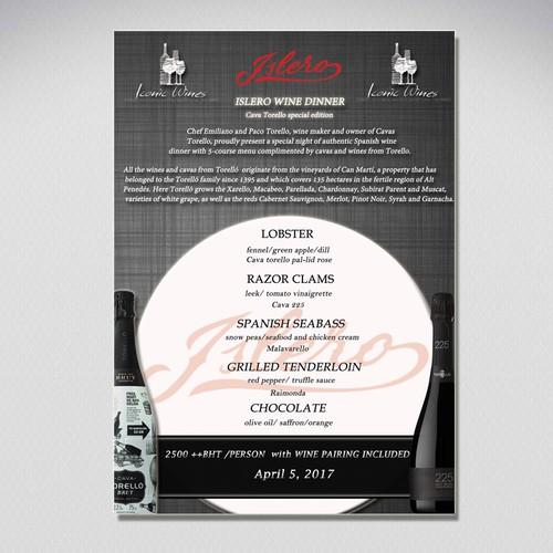 Tasting Menu Design Design by G.i design studio