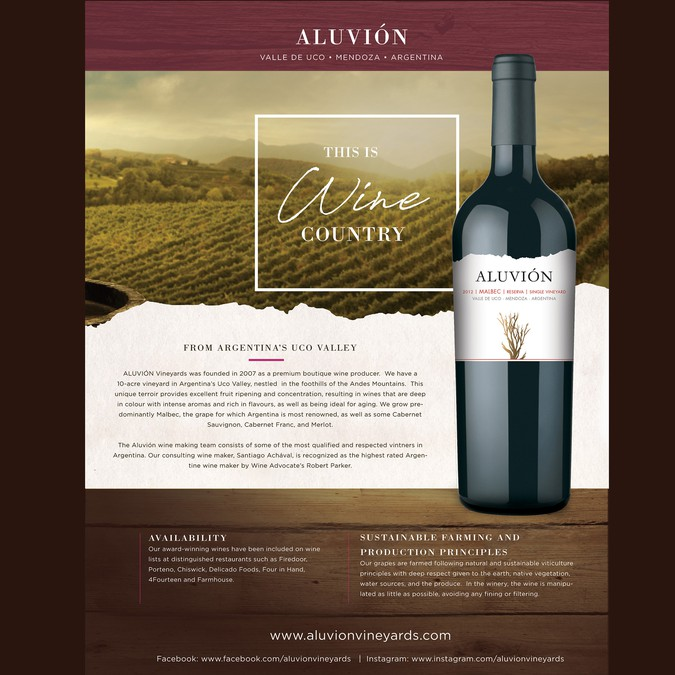 design a captivating wine information flyer for boutique winery