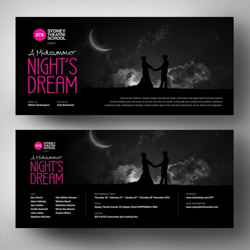 Create a flyer for A Midsummer Night's Dream Design by Adwindesign