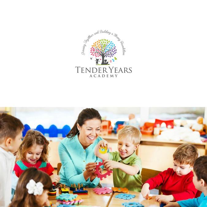 create a fun and creative logo for tender years academy