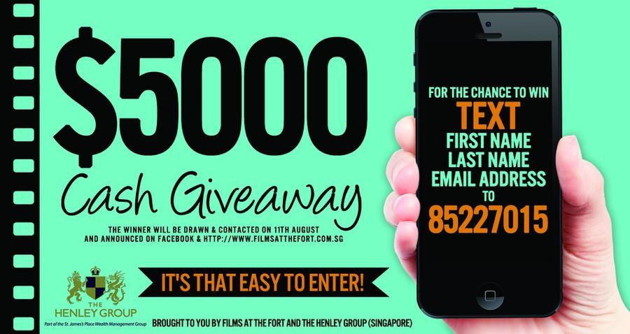 cash giveaway flyer postcard flyer or print contest