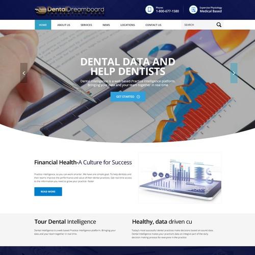 Runner-up design by WebDecent