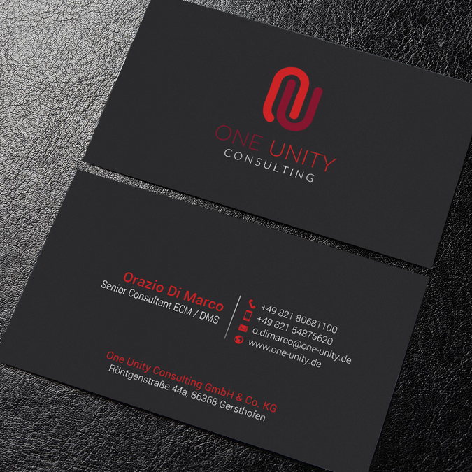 One Unity Consulting Needs A Special Business Card