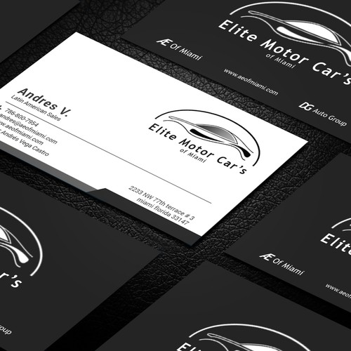 Car dealership business cards needed business card contest runner up design by aryaan01 colourmoves