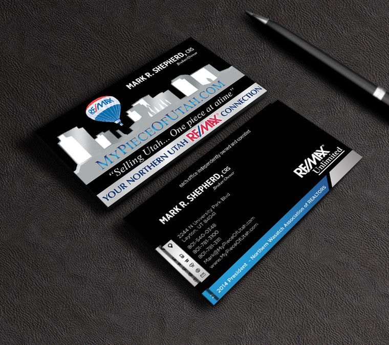 Design a business card for a RE/MAX agent | Business card