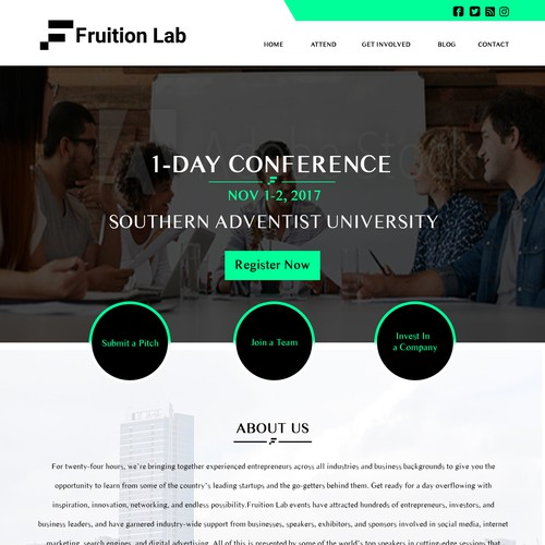 Runner-up design by WebFlux_Solutions