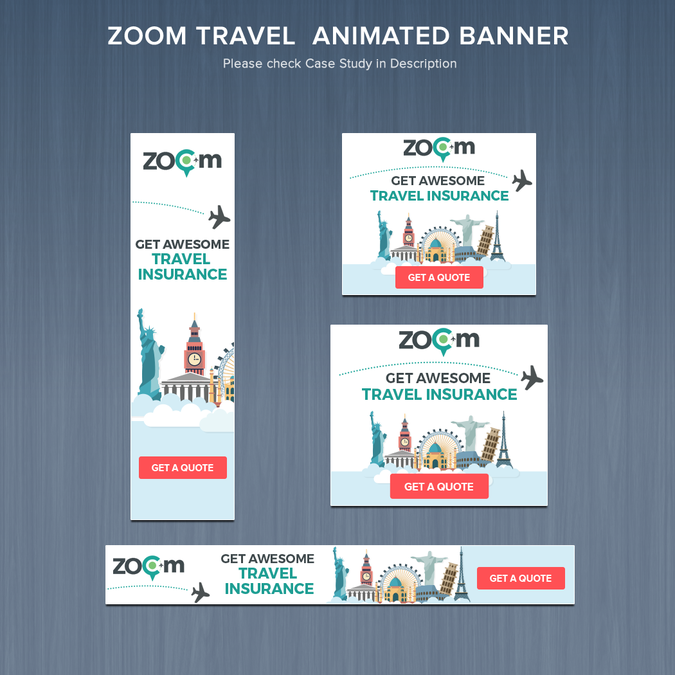 wow us with some slick animated travel banners zoom to it バナー