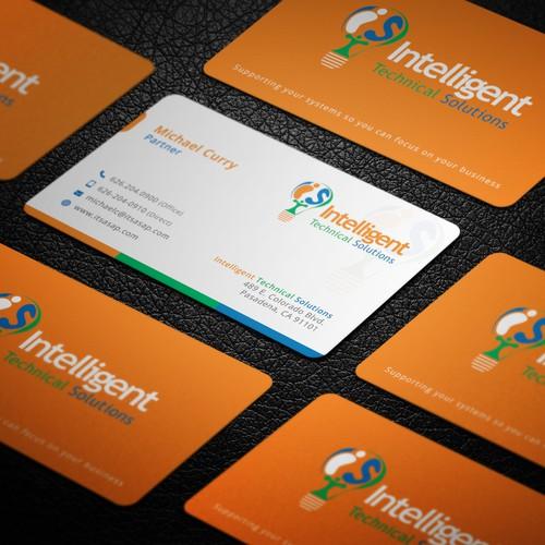 High tech company needs professional business card business card runner up design by galaxiya colourmoves