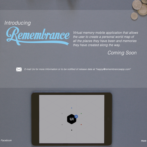 iphone APP  landing page Design by Colin H.