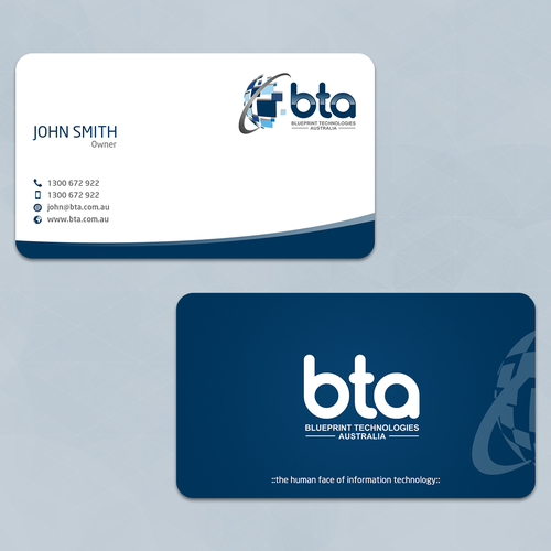 Create a dynamic new business card for an established it company runner up design by ali kz malvernweather Images