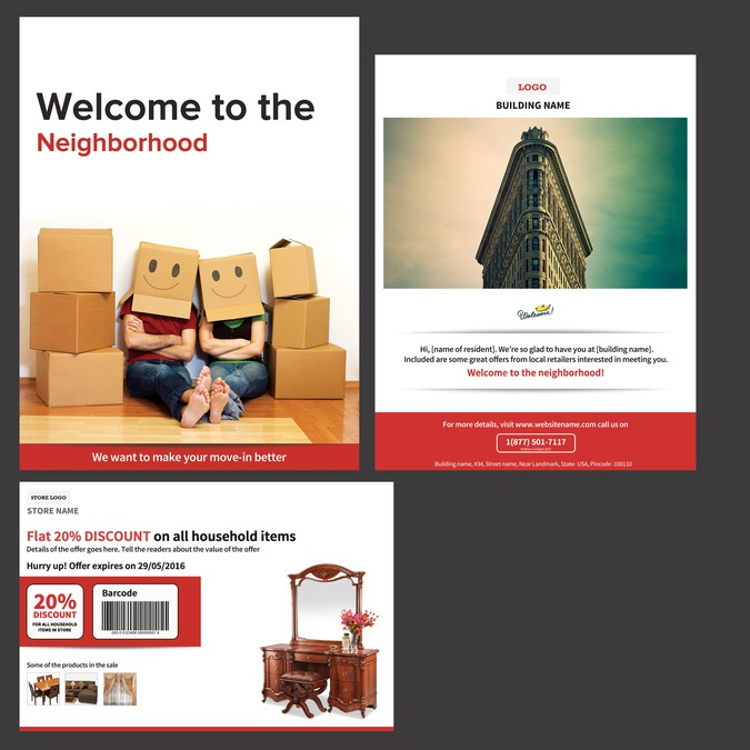 Create a Residents Welcome Package for BuildingLink | Postcard, flyer or print contest
