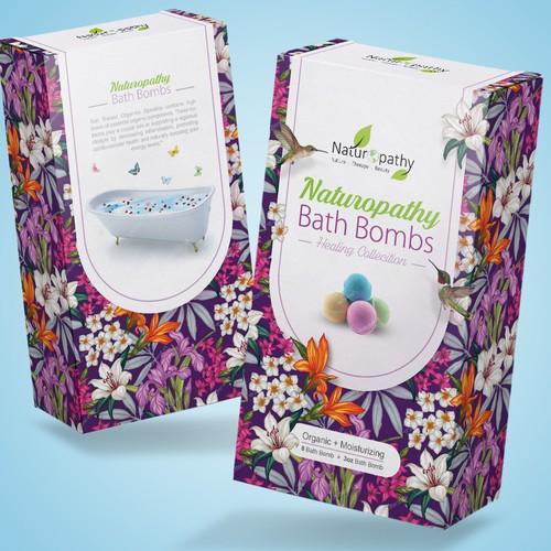 Design a Gift Package for Naturopathy Bath Bombs Ontwerp door K .art