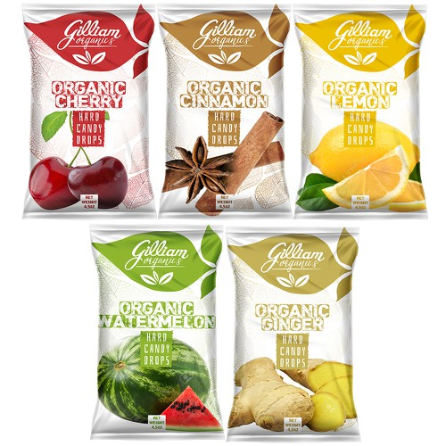 Organic 5 Bag Line for hard candy drops | Product packaging