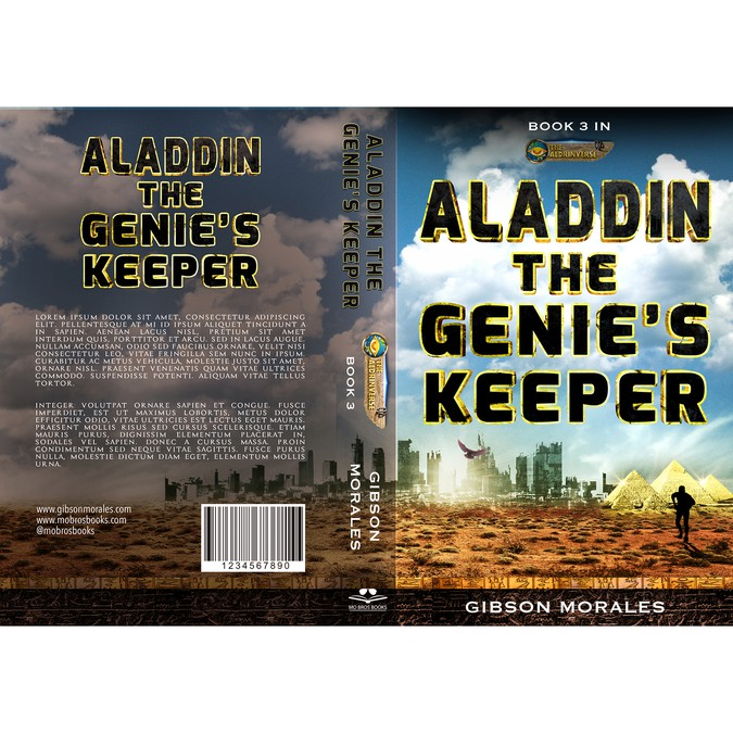 Book Cover Design Help : Help me bring the aladdin book cover to life