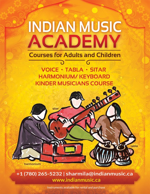 Create an inspiring professional poster for an Indian Music