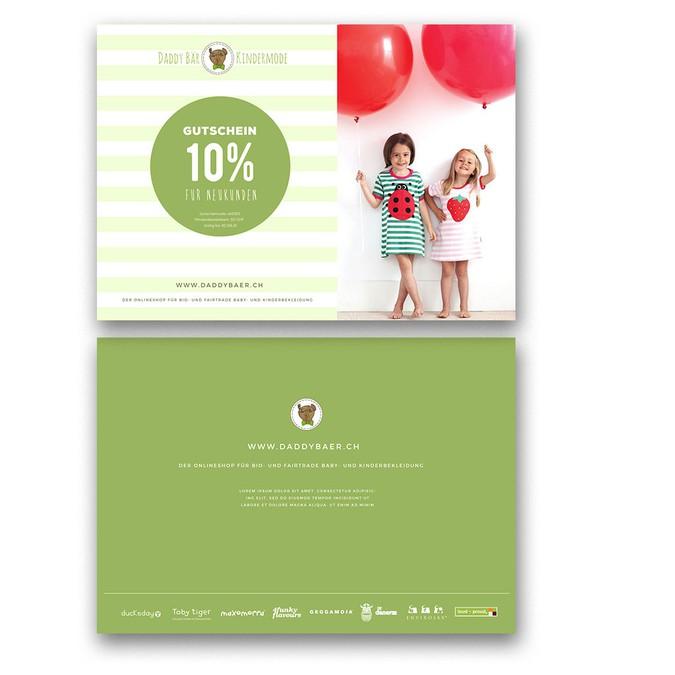 flyer f r bio und fair trade kindermode online shop postkarten flyer printdesign wettbewerb. Black Bedroom Furniture Sets. Home Design Ideas