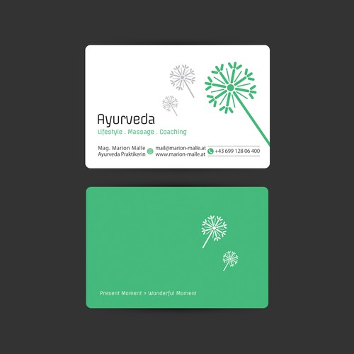Dear designers please create a catchy business card design for my runner up design by heravi colourmoves