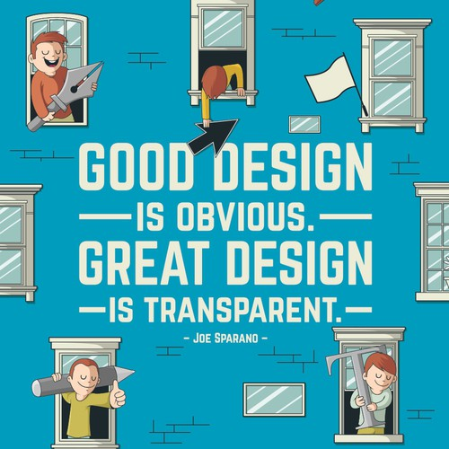 Community Contest | Illustrate your favorite creative quote (multiple winners!) Design by Pedrorsfernandes