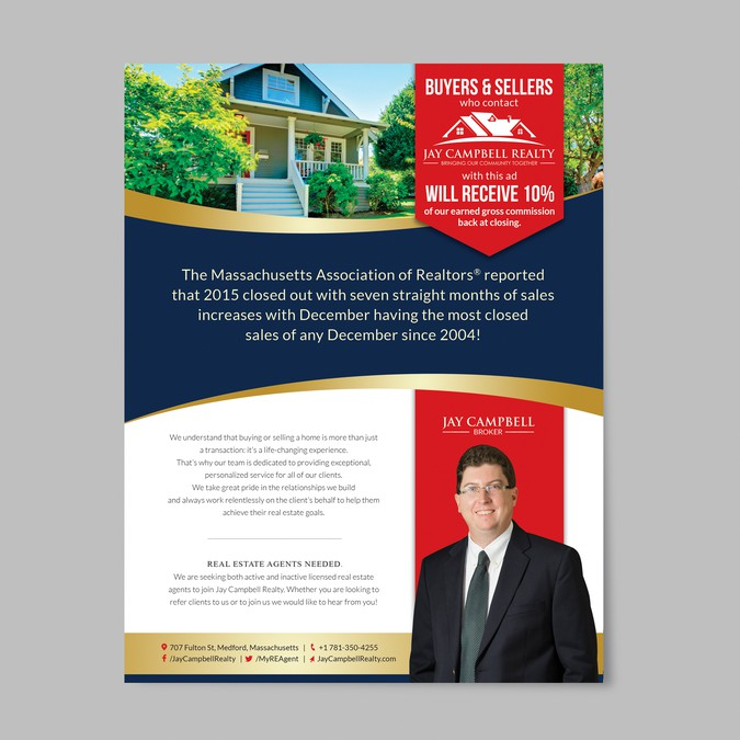 real estate ad flyer winning design by greencherry