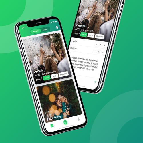 Let's Party!! Event Management Design | App design contest