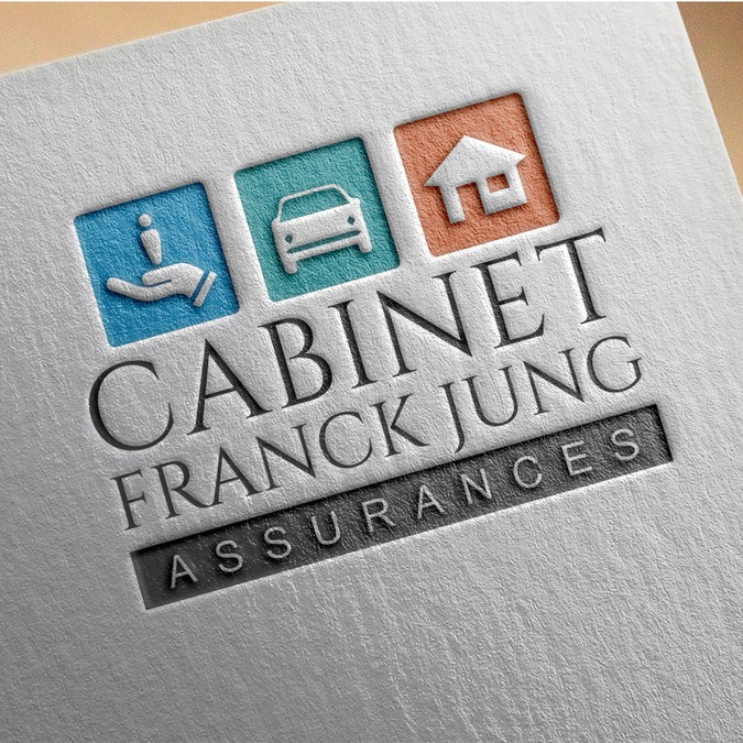 cr er un logo moderne pour cabinet assurances franck jung concours cr ation de logo. Black Bedroom Furniture Sets. Home Design Ideas