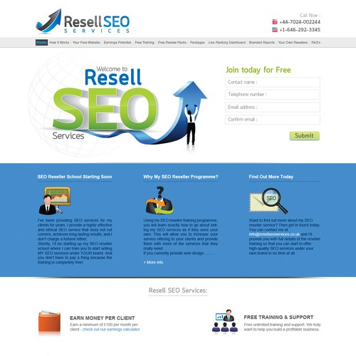 Website Design For Resellseoservices Co Uk Web Page Design Contest 99designs