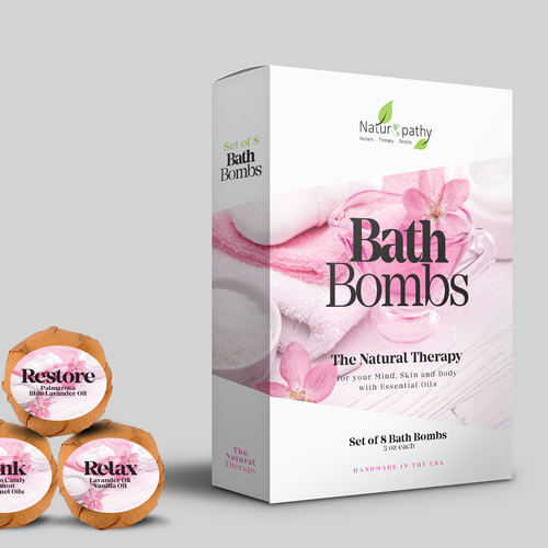 Design a Gift Package for Naturopathy Bath Bombs Ontwerp door artiss03