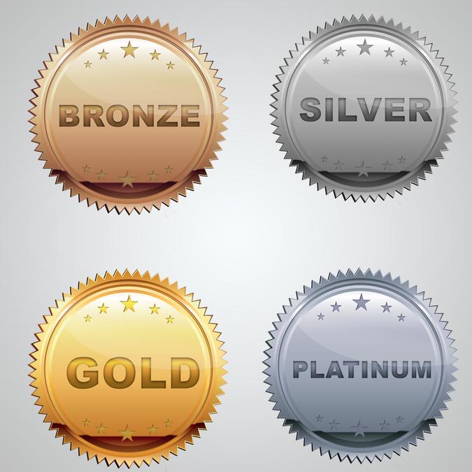 Subscription Level Icons I E Bronze Silver Gold