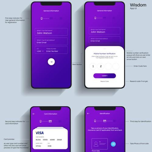 Wisdom, a discount dental membership plan (app) Design by PaMob