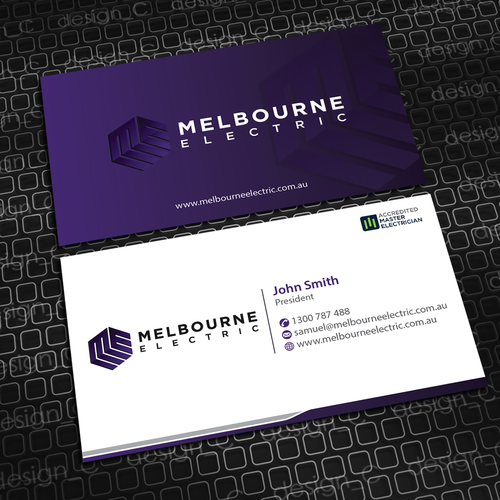 Create an eye popping business card for a passionate electrical runner up design by designc colourmoves