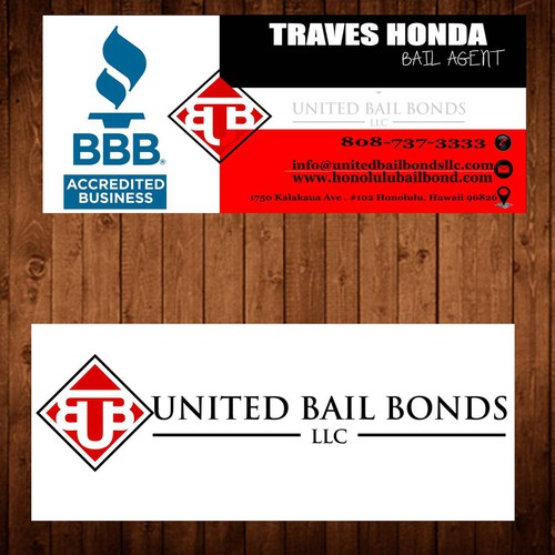 Creative eye catching business card design for bail bonds company runner up design by waleed ramdan colourmoves